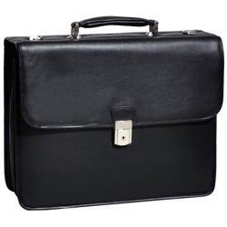 Czarna skórzana teczka neseser Ashburn na laptopa 15,6″