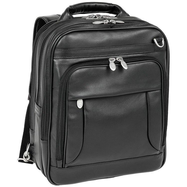Skórzany czarny plecak męski na laptopa 15,6″ Lincoln Park
