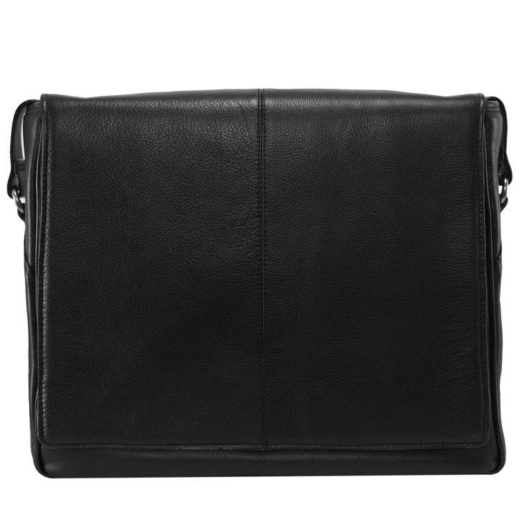 Męska torba na ramię skóra naturalna San Francesco czarna 15,6″