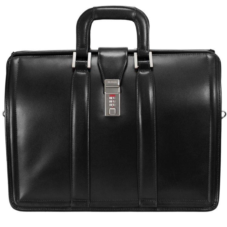 Czarna biznesowa teczka na ramię lub do ręki, torba na laptopa 17″ Morgan