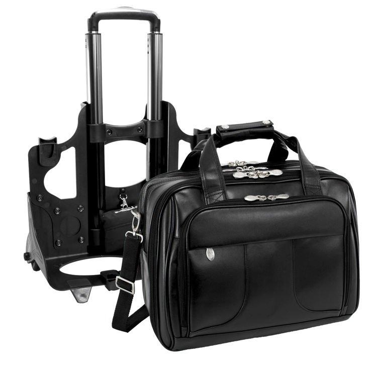 Skórzana torba podróżna męska Chicago na laptopa 17″