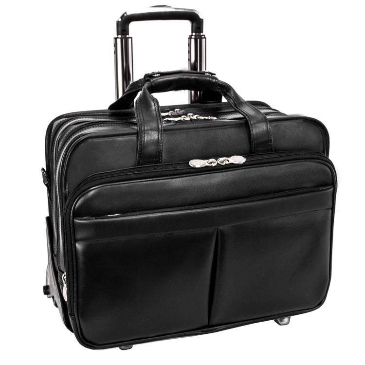 Skórzana Męska torba podróżna na laptopa Roosevelt 17″