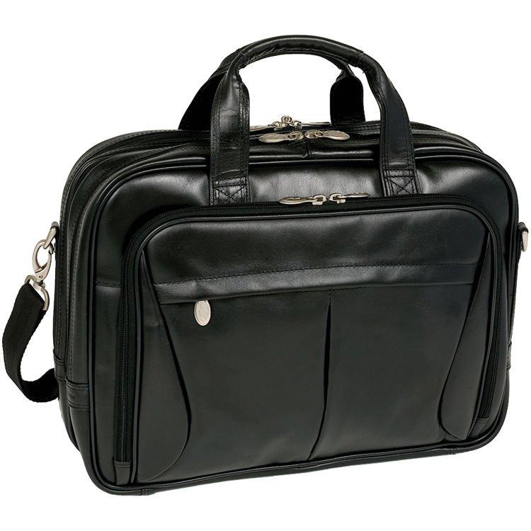Męska czarna torba skórzana na laptopa 15,6″ oraz 17″ Pearson