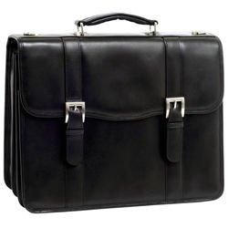 Teczka męska na laptopa skóra naturalna Flournoy 15,6″ czarna