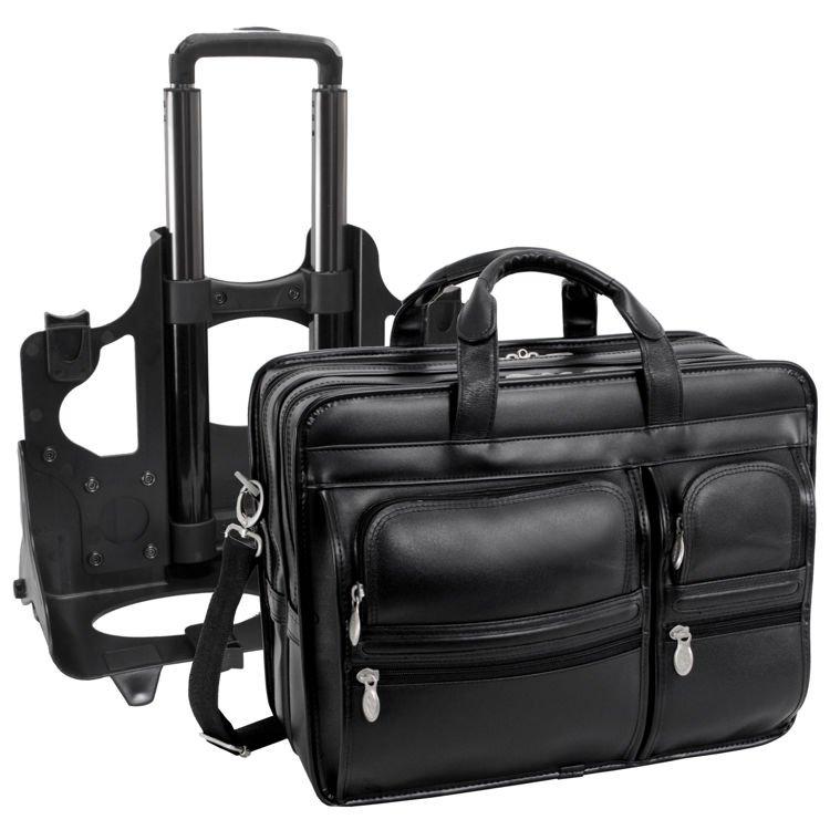 Skórzana Męska torba podróżna na laptopa Clinton 17″