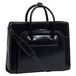Skórzana torba damska Lake Forest na laptopa, kolor czarny 15,6″