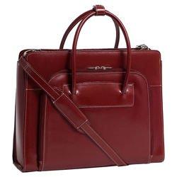 Torba damska skórzana Lake Forest Red na laptopa 15,6″ dla bizneswoman