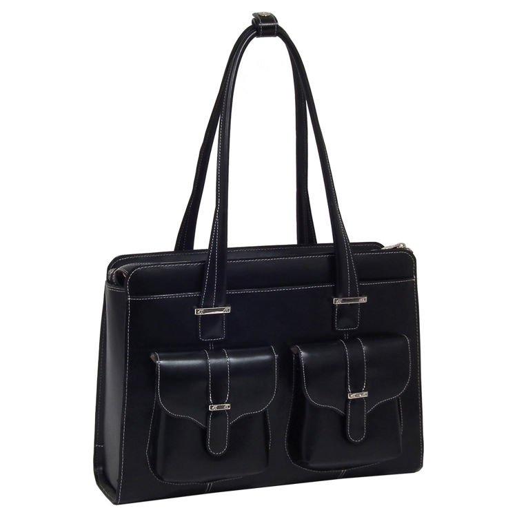 Skórzana torba damska Alexis kolor czarny na laptopa 15,6″