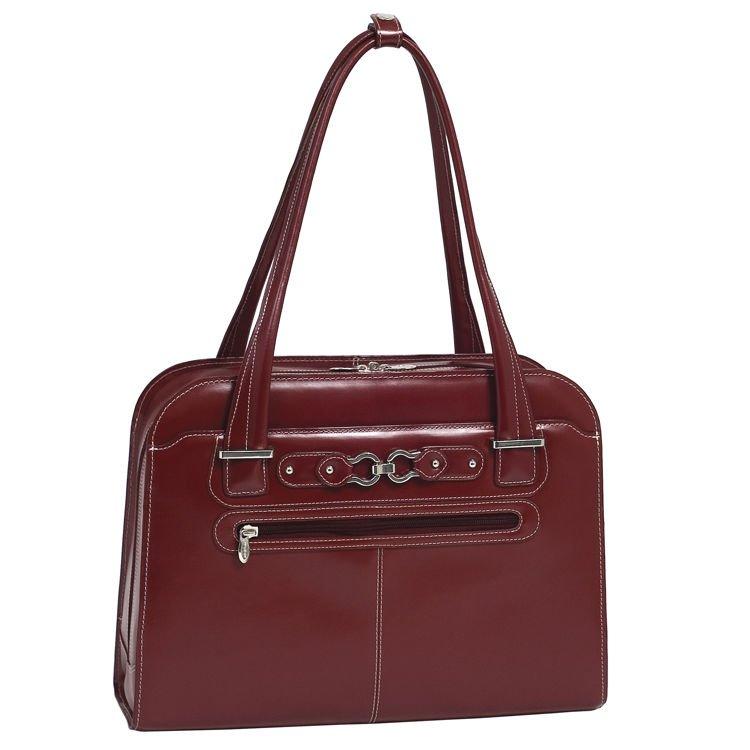 Czerowna skórzana damska torba na laptopa 15,6″ Oak Grove