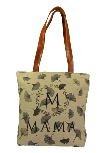 Beżowa torebka shopperka Mama