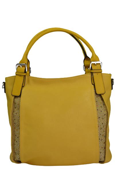 Włoska żółta shopperka z cekinami